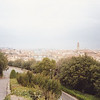 Views of Florence from an overlook across the Arno River