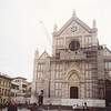 St. Croce Cathedral--in 1966 the Arno River flooded its banks and rose to 21 feet in front of this church