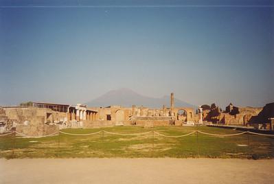 Looking toward Mt. Vesuvius--erupted in 79 A.D.