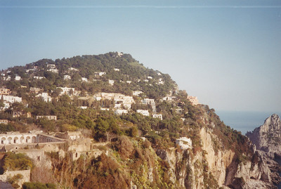 Pinkish house at end is where Ike and Churchill viewed the Battle of Salerno during World War II