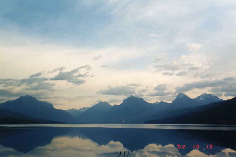 McDonald Lake, Montana, in Glacier National Park