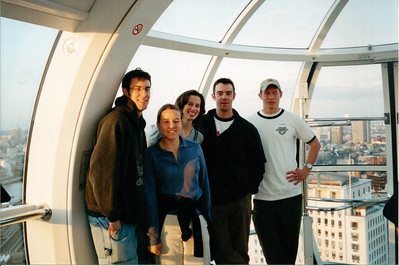 Taken on the London Eye.  Jared was in London for a visit and paid for the tickets.