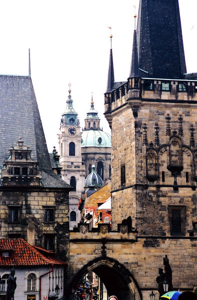 PRAGUE: View from the Charles Bridge of Marla Strana (the Lesser Quarter, whatever that means).