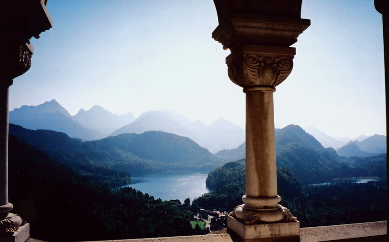 MUNICH: View of lake from Neuschwanstein castle.