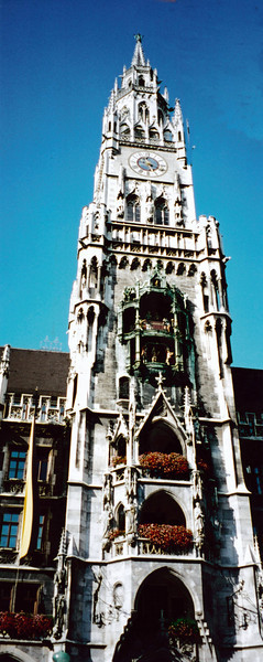 MUNICH: New City Hall tower (1867) with glockenspiel.