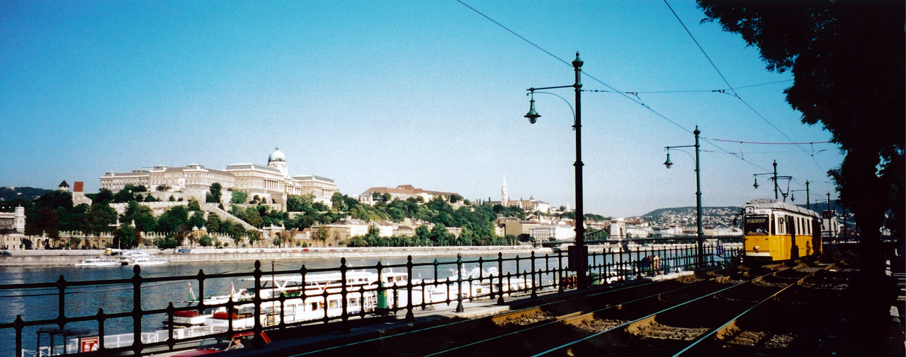 "BUDAPEST: View of Buda Castle from ""Pest"" side."
