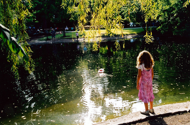 VIENNA: Girl in city park.
