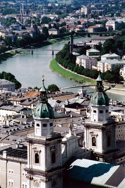 SALZBURG:  Overview of Austrian city.