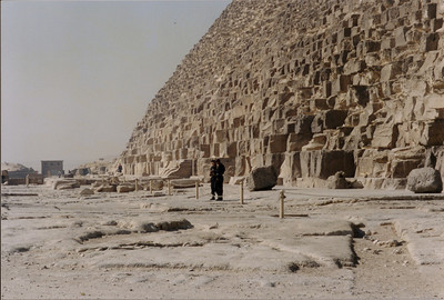 Taken on my trip to Egypt in the spring of 2001. A very hot and hazy day. These guys were in black wool uniforms all day.