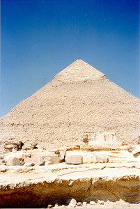 Taken on my trip to Egypt in the spring of 2001. A very hot and hazy day.  I had to stop at KFC across the street for a coke.