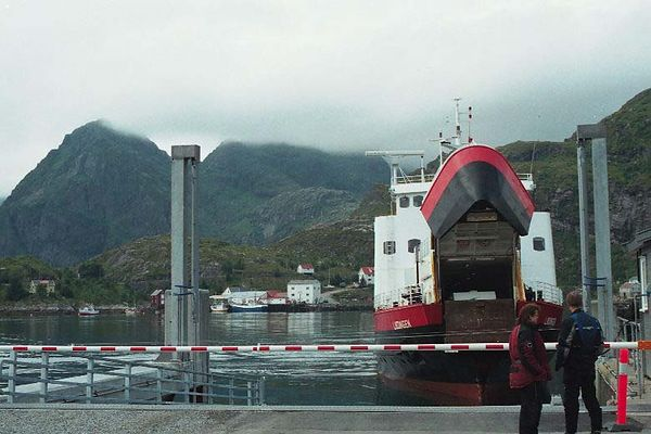The ferry Moskenes-Bodø