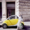 May 19:  First of the Smart cars in Europe, spotted just around the corner from Trevi Fountain; Rome