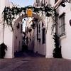 pretty street near the cathedral in Arcos de la Frontera