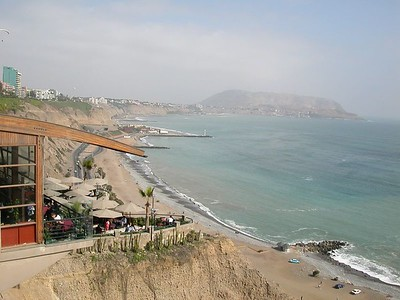 Larco Mar, a mall overlooking the Pacific coast.