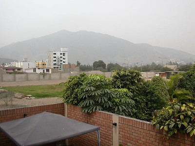From my apartment in Surco, Lima. This is a typical Lima weather for MOST of the entire year.