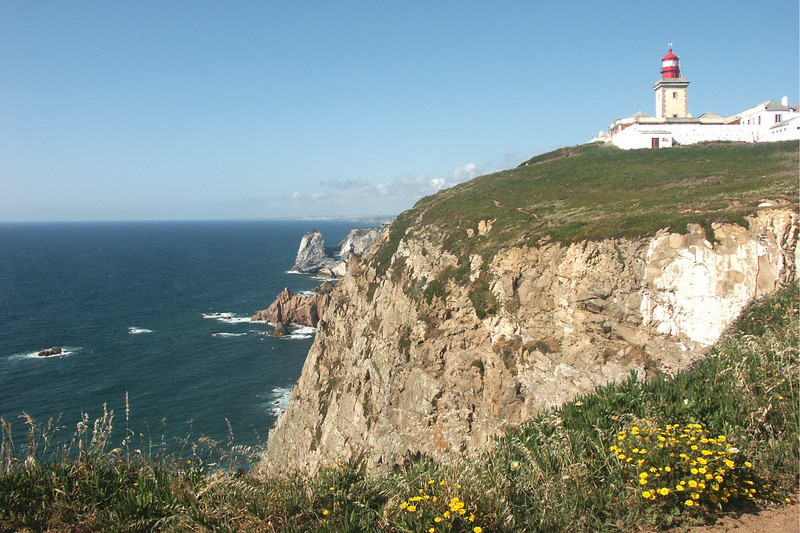 Lighthouse near Sintra at Cabo da Roca - the western-most point in Europe.