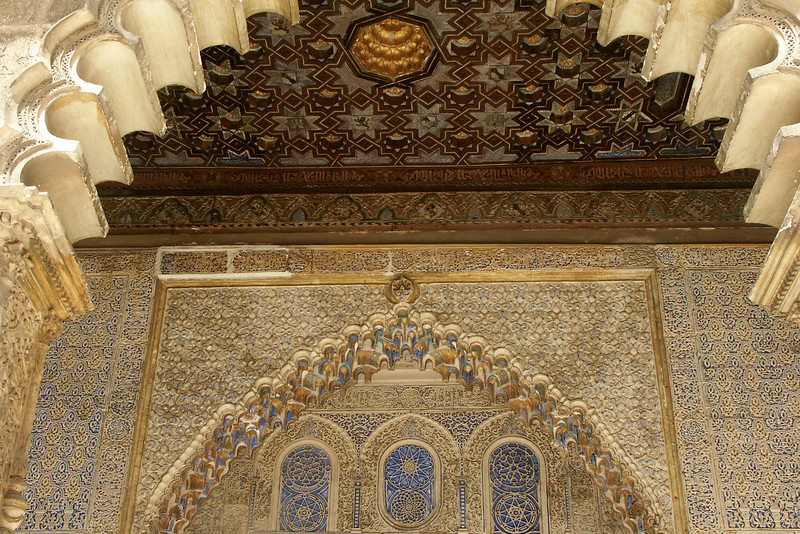 Ceiling and wall at the Alcazar.