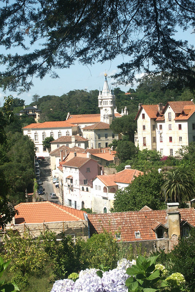 Sintra, Portugal, a very picturesque town about 12 miles miles north of Lisbon - the summer home of Portugal's kings.