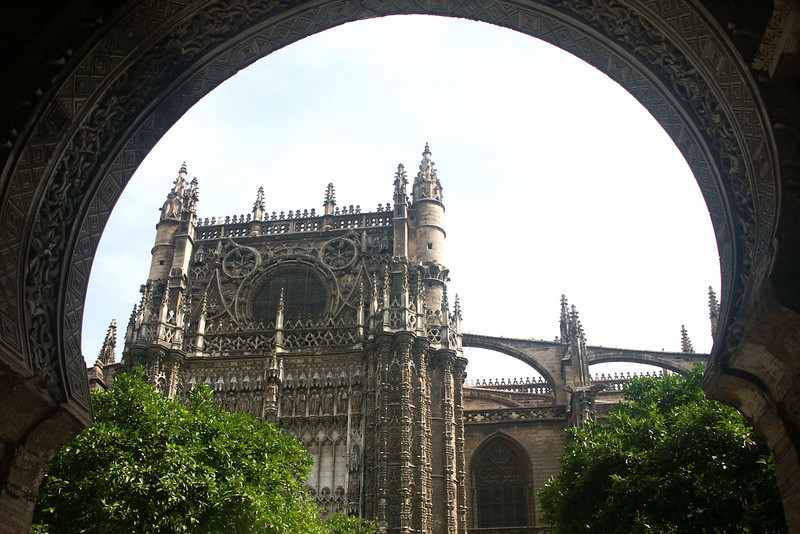 The cathederal of Seville, the third largest church in Europe.