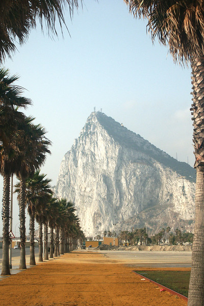 View of the Rock of Gibrltar from Spain.