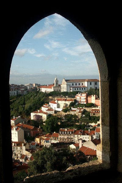 View of historic Lisbon from St. George castle.