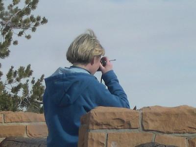 Womam smoking at Bryce Canyon NV USA