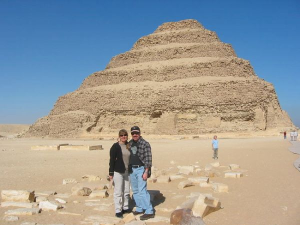 Step Pyramid.  The first pyramid tomb.