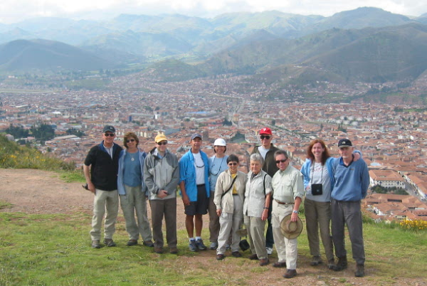 Overlooking Cusco from the high point of the city, where the Incas had constructed a mighty fortress.