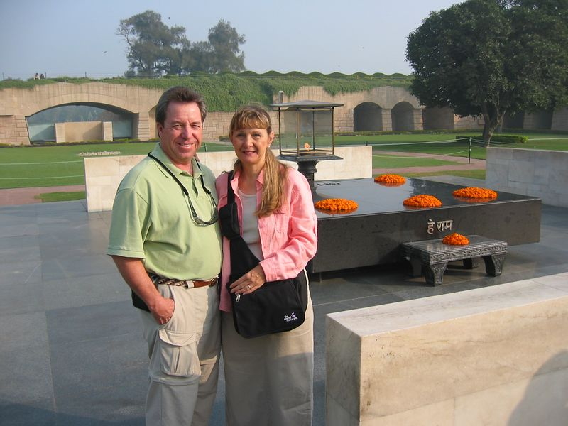 In Delhi we visited the large, beautifully landscaped gardens that are a memorial to Mahatma Ghandi.