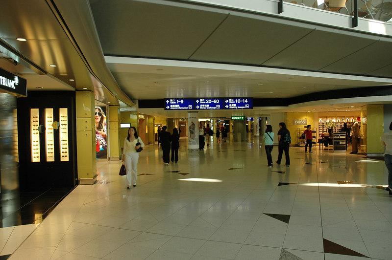 機場的購物區