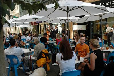 露天咖啡座還有爵士樂表演,好個愜意的下午