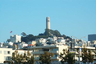 電報山頂的Coit tower