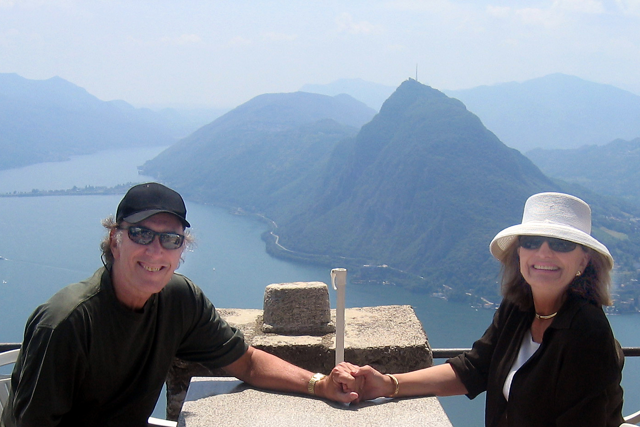 The requisite photo to show we were there - overlooking Lake Lugano.