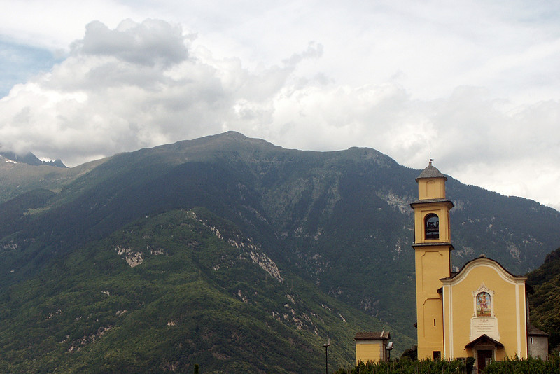 A church in the Alps about 30 miles north of Lugano.