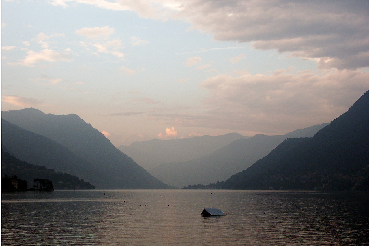 The last photo must be a sunset - this one was on Lake Como.