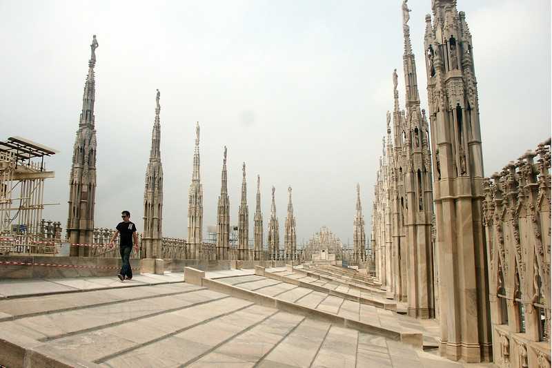 The rooftop of the duomo.