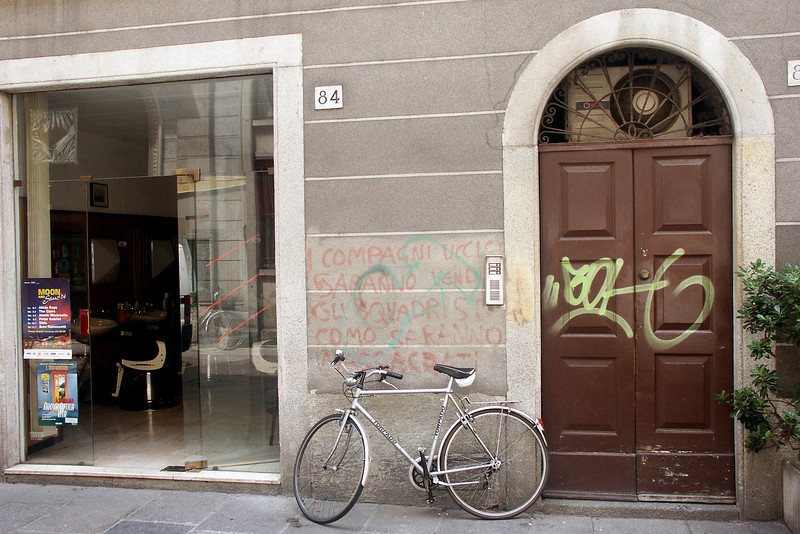Switzerland and Italy haven't yet come to grips with graffiti - it was all over the cities.
