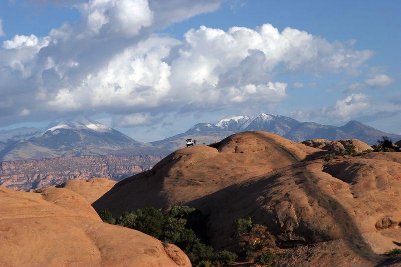 Utah, Moab, Hell's Revenge, La Sal Mountains