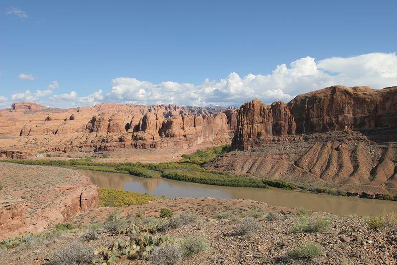 Utah, Colorado River, Behind the Rocks
