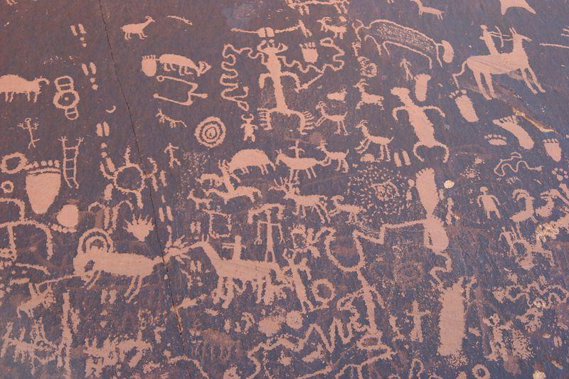 Utah, Newspaper Rock, Indian Drawings