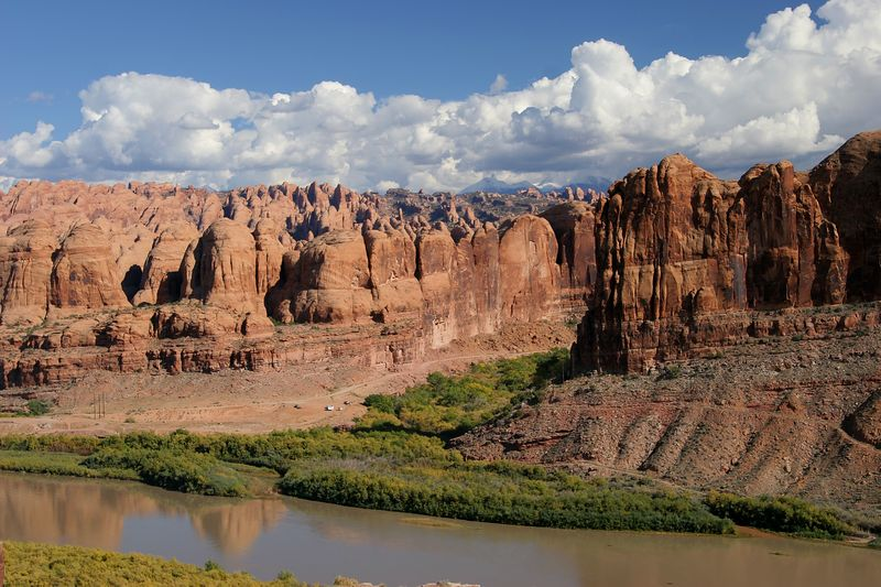 Utah, Colorado River, Behind the Rocks