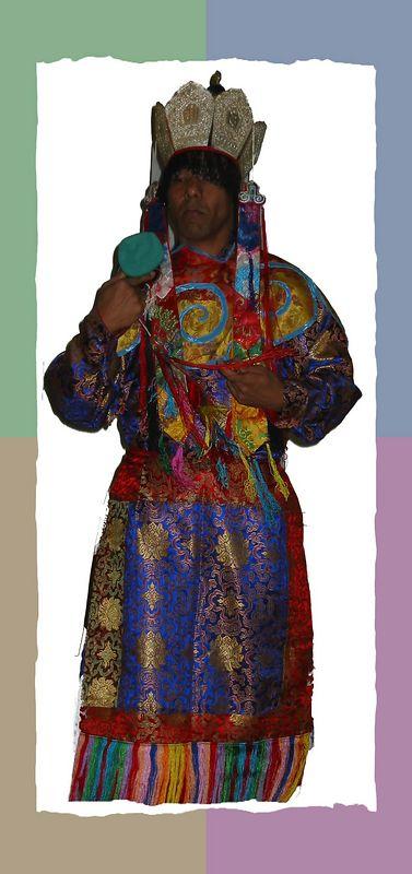 A colorful Tibetan dancer [color block 01 frame]