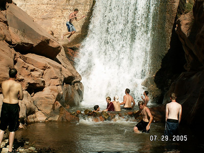 Moab July 2005 BH1 Scouts (PowerHouse Falls)