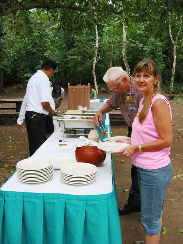 We enjoyed a picnic lunch at the Copan ruins catered by our hotel.