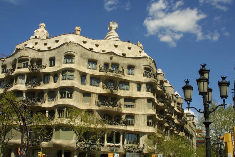 Casa Mila -Gaudi's amazing apartment buiding