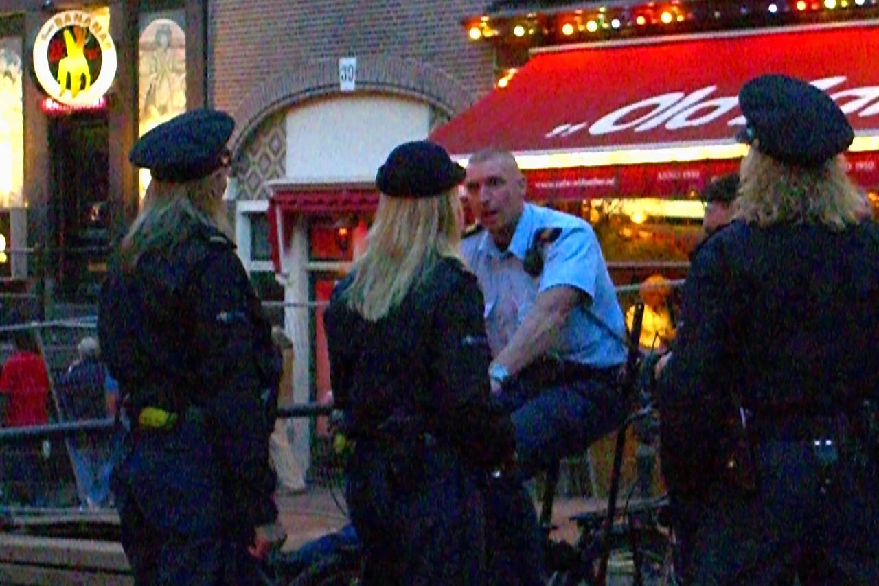 Even the police in the Red Light District are blonds.