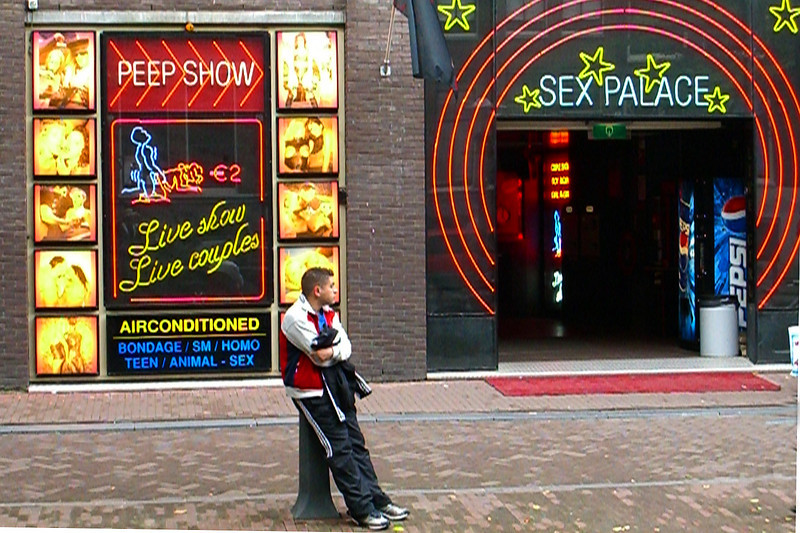 Here's something else that Amsterdam is famous for - its red light district.