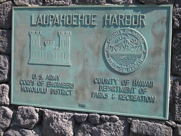 Laupahoehoe is about half way up the coast from Hilo to Honoka'a.