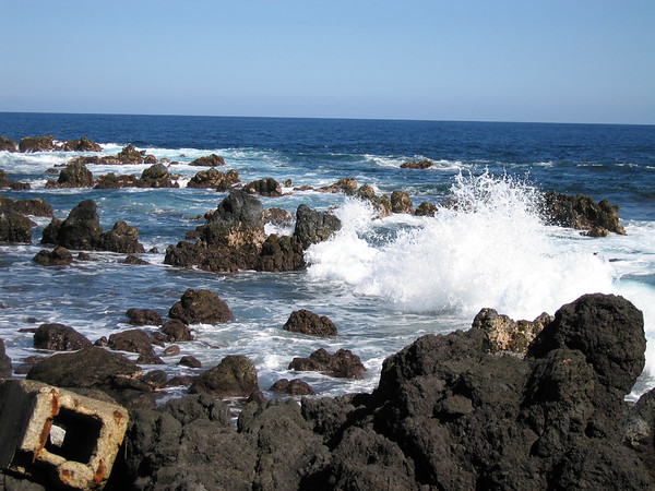 Laupahoehoe Point is known for its rough surf.