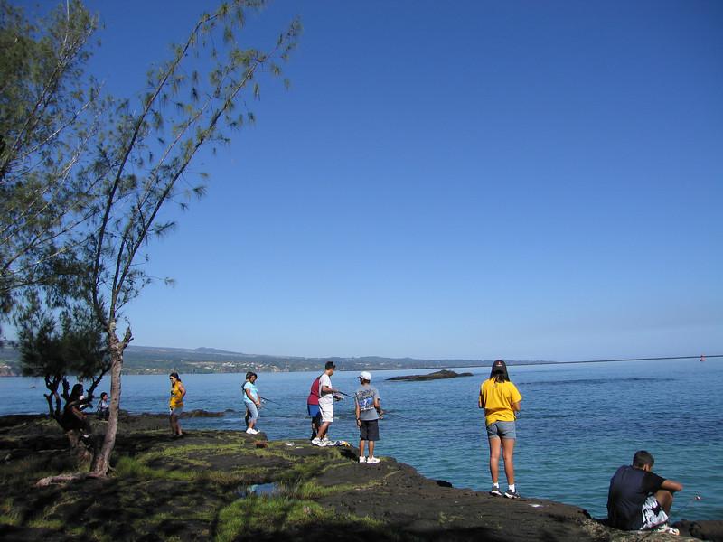 Coconut Island is a popular local fishing spot.